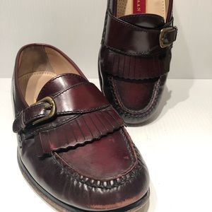COLE HAAN Buckle Kilt Loafers Brown  womens Sz 7